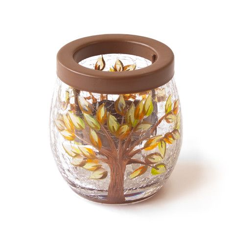 Golden Leaves Tealight Holder – Yorkshire Trading Company