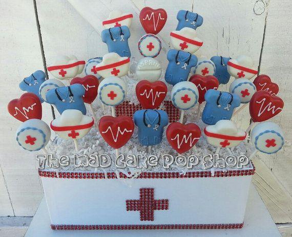 Nurse Appreciation Cake Pops 12 Pops di TheMaDCakePopShop