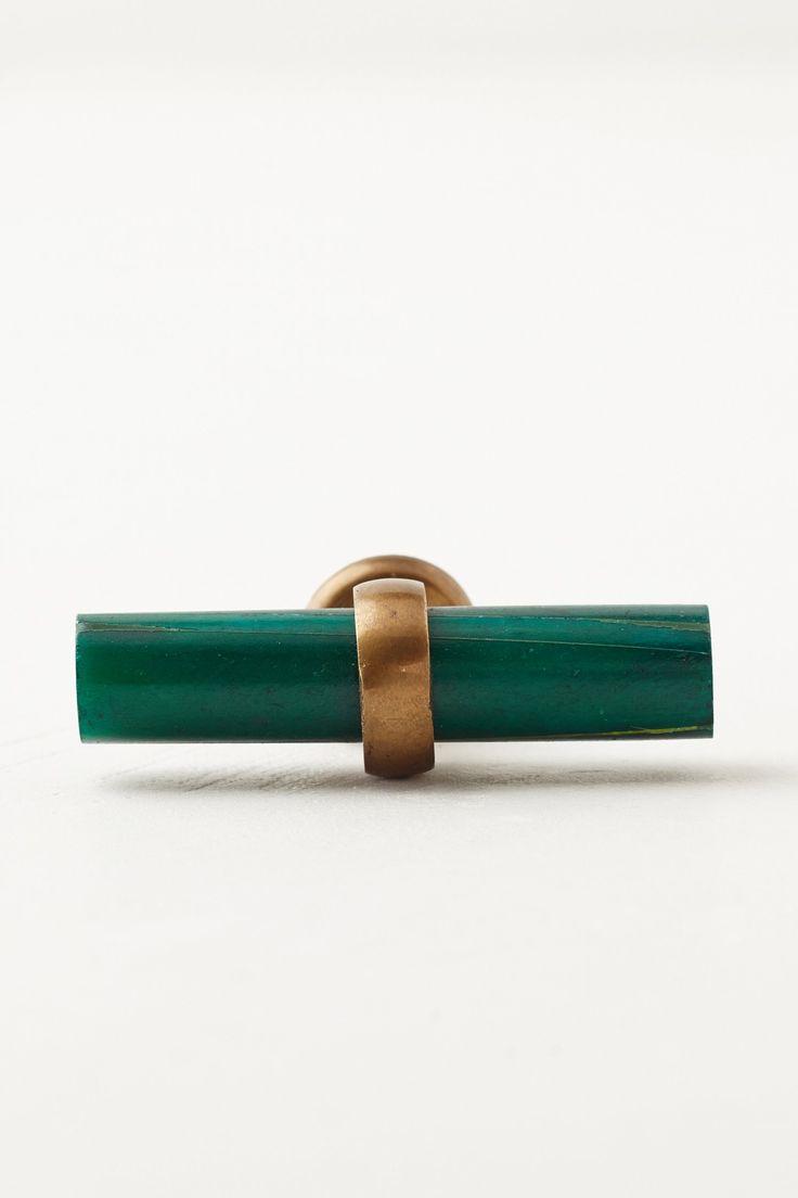 green + brass hardware pulls / knobs / anthropologie