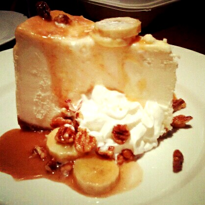 Longhorn Steakhouse...Banana Foster Cheesecake for a limited time only!