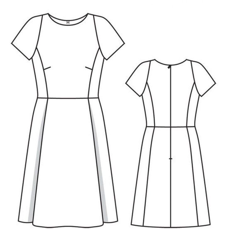 Платье - выкройка № 101 из журнала 2/2014 Burda – выкройки платьев на Burdastyle.ru