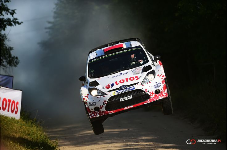 Robert Kubica - big jum in Rally Poland 2014