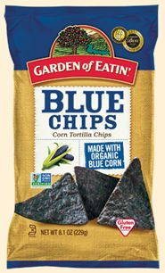 ( #Stonyfield ) Garden of Eatin' Organic Blue Corn Chips - Especially delicious with some homemade artichoke dip!! YUM!