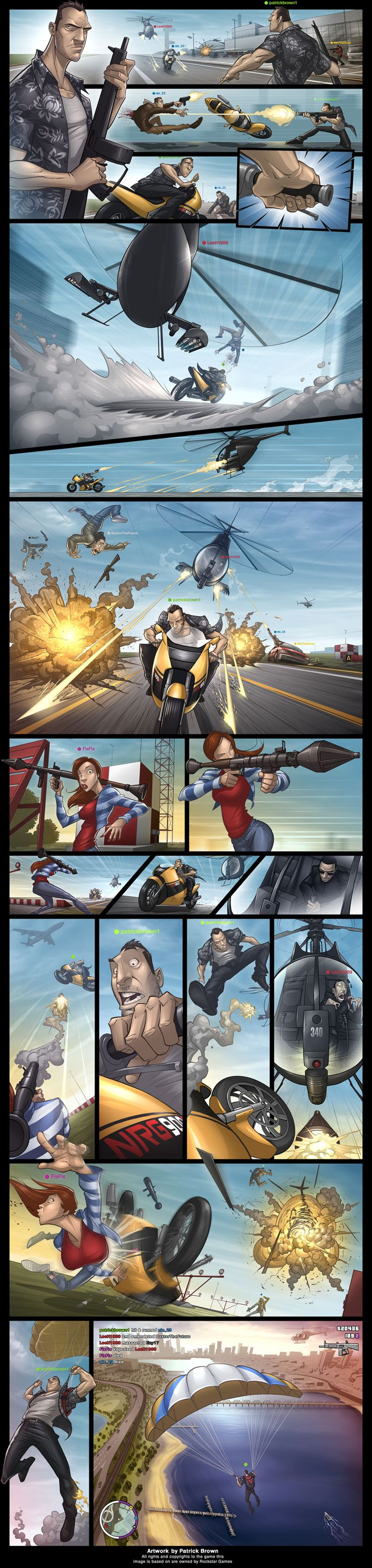 Amazing Grand Theft Auto Videogame Fan Art by Patrick Brown   Abduzeedo Design Inspiration