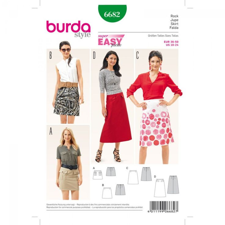 Jupe n°6682 - Collection Burda Printemps/Eté 2016