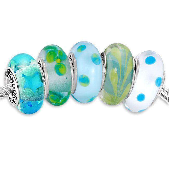 Pandora Teal Glass Set