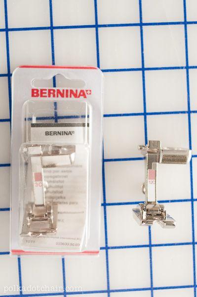 making piping, Bernina feet