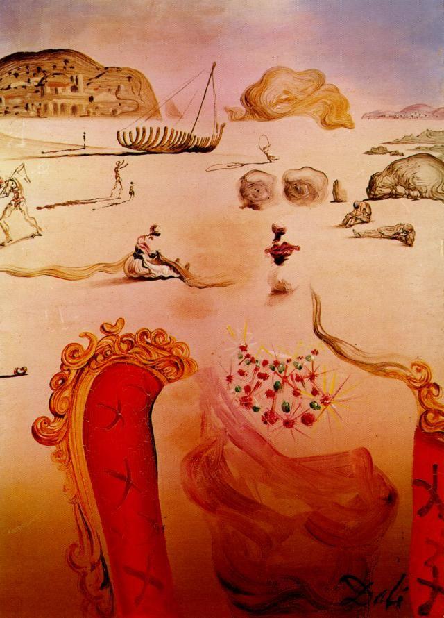 Salvador Dali >> Paranoïa (figures surréalistes), 1944  |  (huile, reproduction, copie, tableau, oeuvre, peinture).
