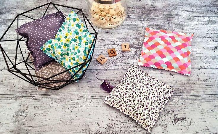 Couture facile: Comment fabriquer une bouillotte sèche ? Je vous propose de découvrir le tuto en images de mes petites bouillottes sèches d'automne.