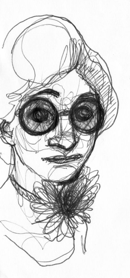 Sunglasses. Drawing by Consti