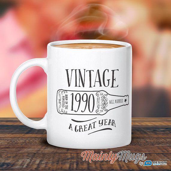 25th Birthday 1990 Birthday 25th Birthday Gift 25th by MainlyMugs