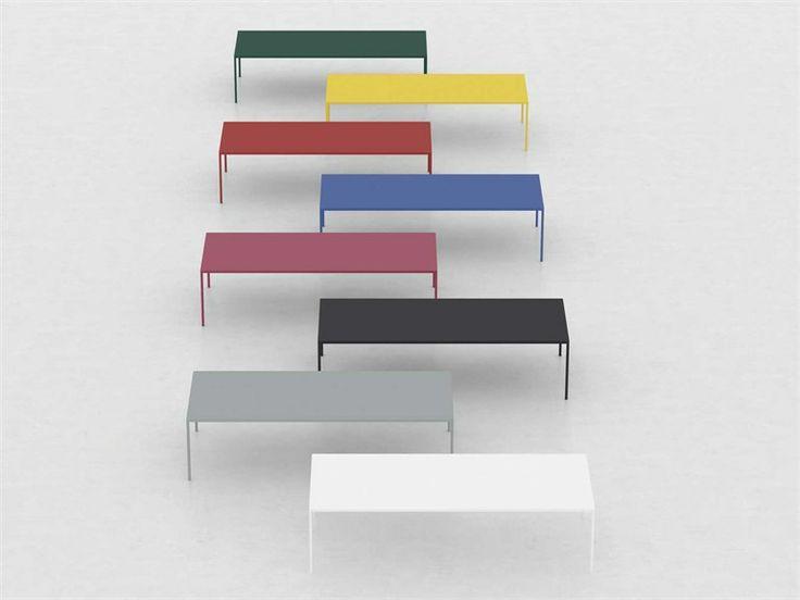 Rectangular steel table ROBIN - MDF Italia