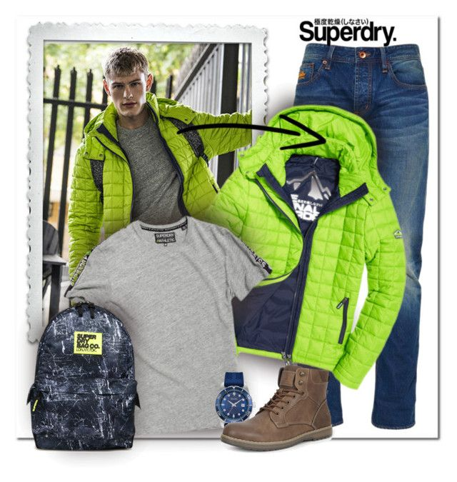 """""""SuperDry: Jackets"""" by wanda-india-acosta ❤ liked on Polyvore featuring Superdry, Bulova, Izod, men's fashion, menswear, superdry and MySuperdry"""