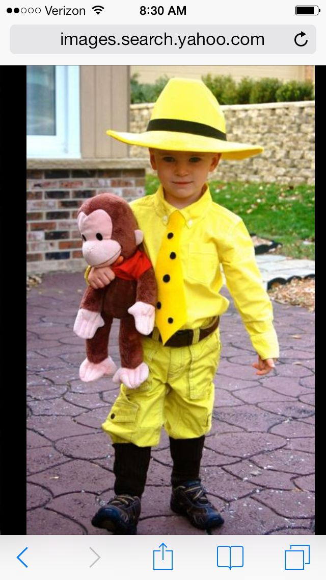 DIY Man in the Yellow Hat costume