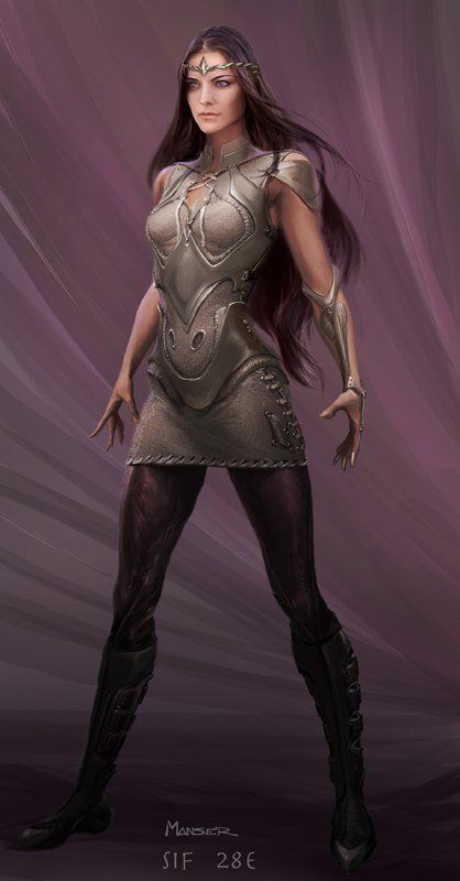 Sif - Thor Concept Art-- I feel like this would be better suited to the Enchantress than Sif. Glad they didn't use it