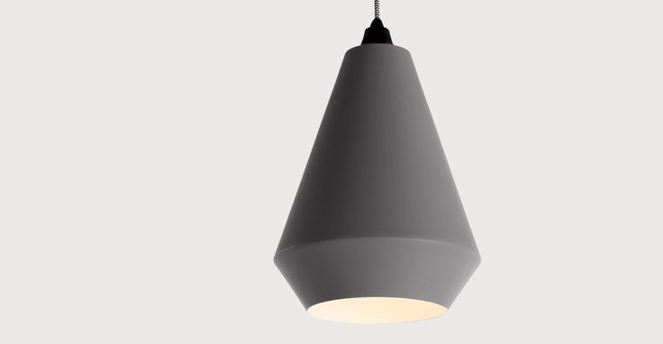 Kirkby Conical Shade, Cool Grey