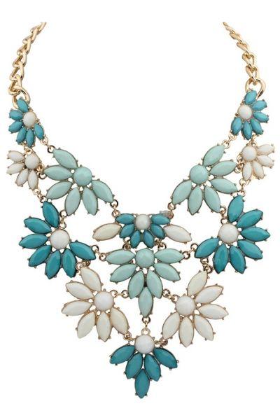 Vintage Floral Bib Necklace - OASAP.com