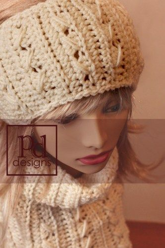 Crochet Patterns Headband Ear Warmer : Trinity Headband Ear warmer Crochet PDF pattern PDDesigns - Patterns ...