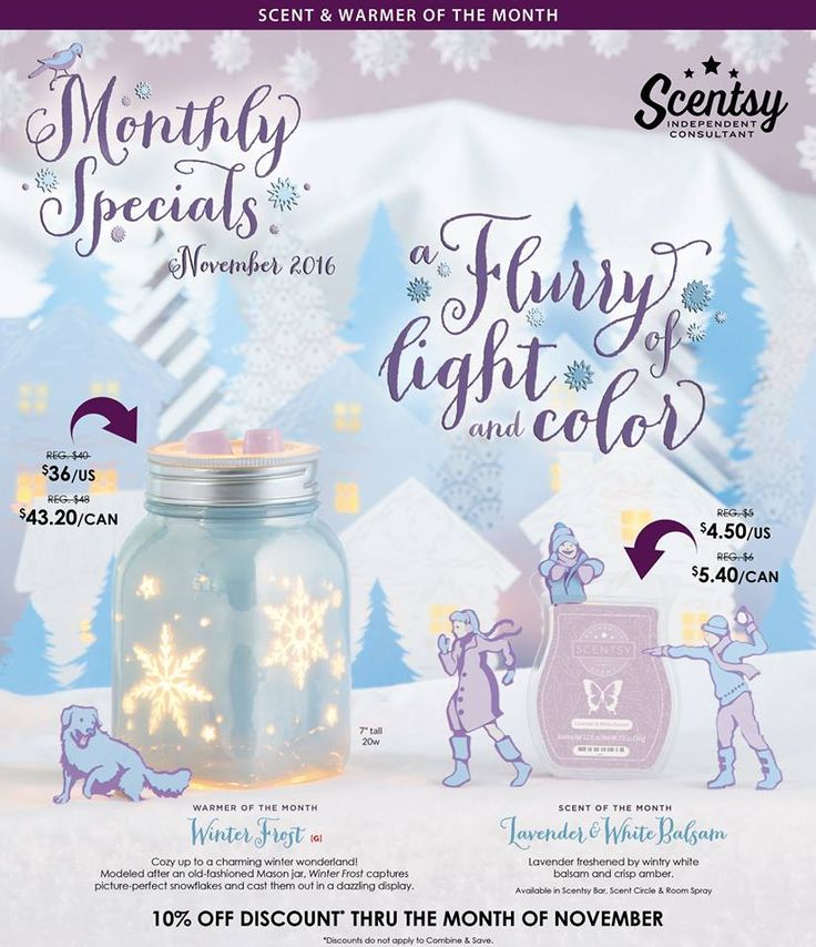 November!  New Scent!  New Warmer!  Order today!  https://belindaoliver.Scentsy.us?partyId=316663985