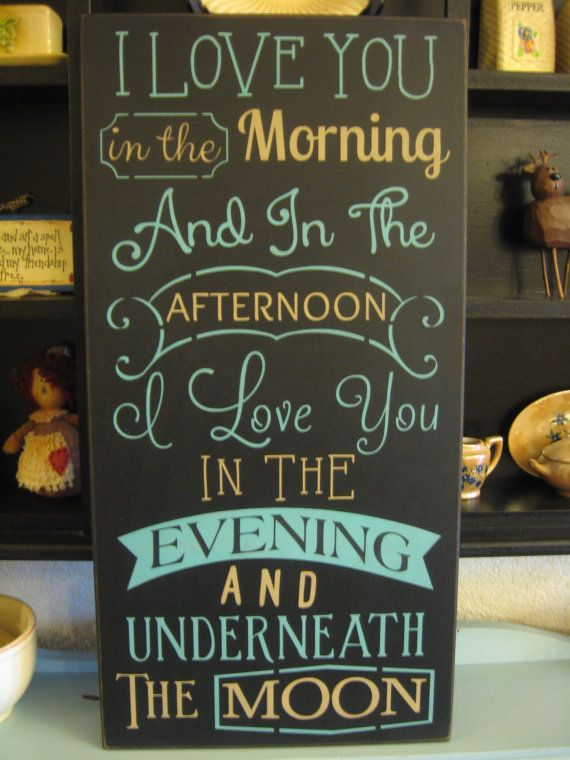 Primitive Country Farmhouse I love you in the morning on Etsy, $26.99