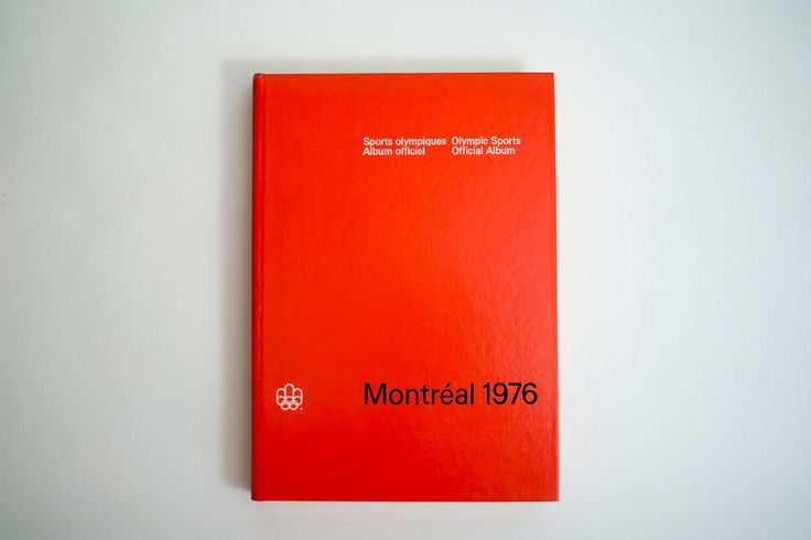 1976 Montréal Olympics Album. Designed by Georges Huel and Pierre-Yves Pelletier
