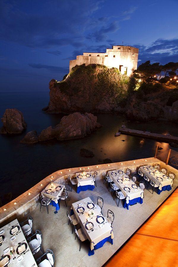 Amazing restaurants on the water in #Dubrovnik, Croatia