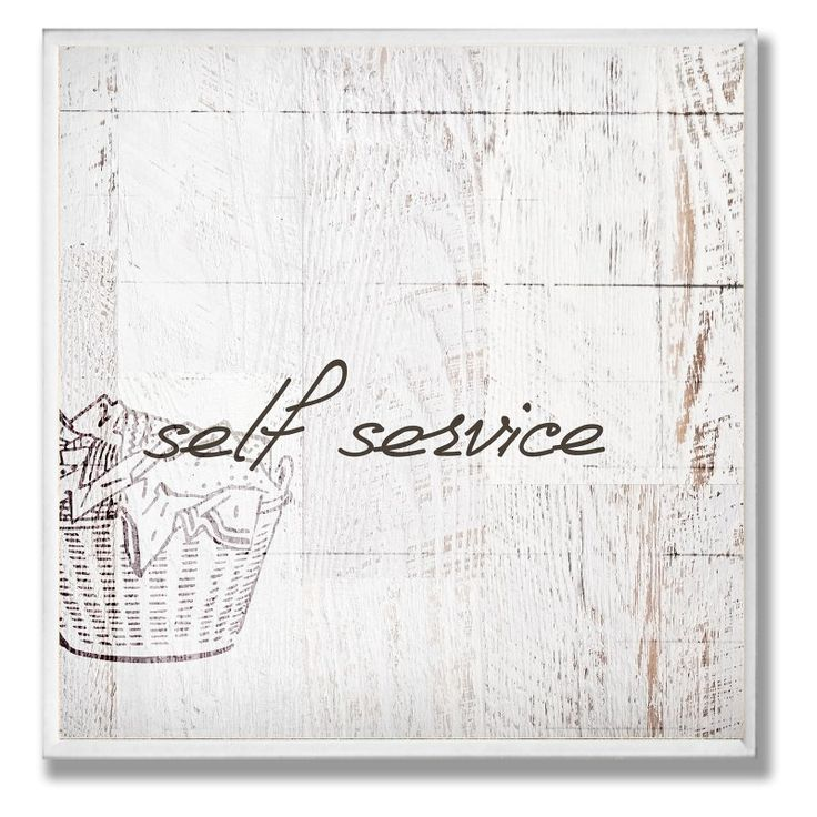 Self Service Laundry Bathroom Wall Plaque - WRP-1037_WD_12X12