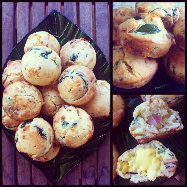 Bacon @ Spinach Muffins #food #yum #foodie #muffin