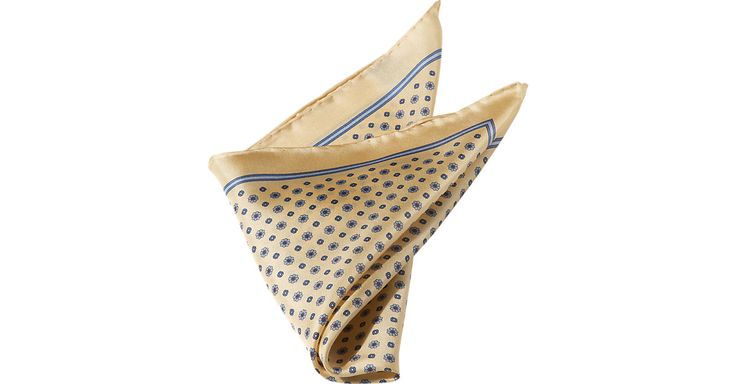 Gold Dot Paisley Pocket Square from MensWearhouse. # ...