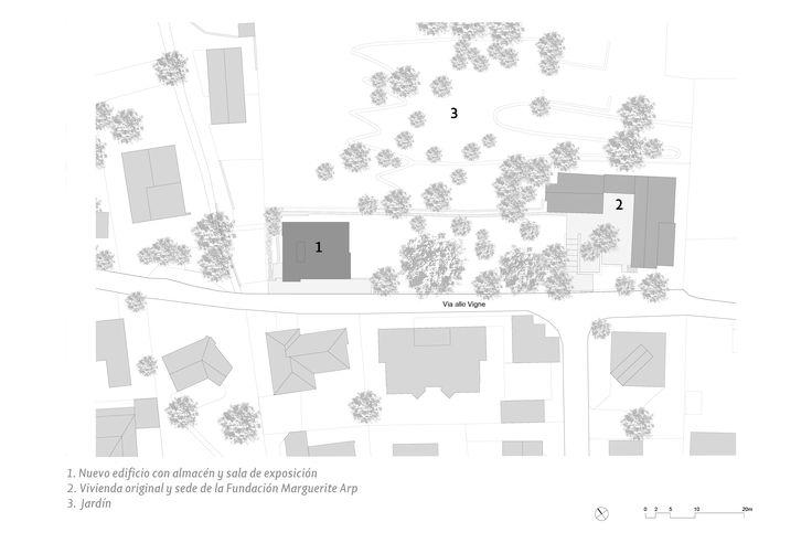Muro doble de hormigón en la Fundación Marguerite Arp de Gigon/Guyer Architects | TECTÓNICAblog  Fotografías: Roman Keller. Los huecos tienen un vidrio exterior no hermético que permite la ventilación natural y protege del viento.  La localización de la Fundación Marguerite Arp en el barrio de Solduno es impresionante. Formado por un amplio conjunto de casas unifamiliares incluye tanto una larga ladera con un importante grado de inclinación que se extiende hasta el límite del bosque como una…