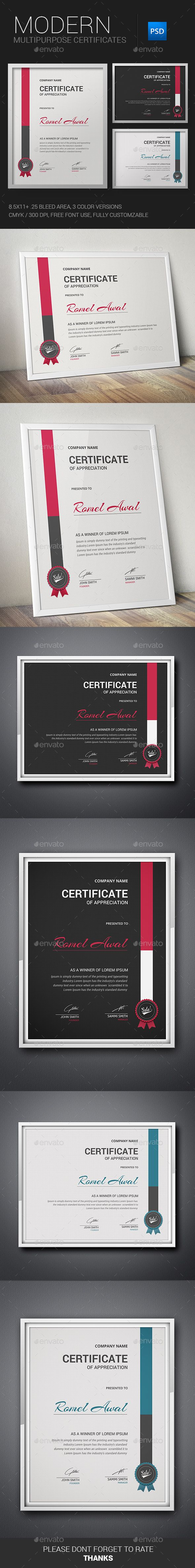 #Certificate - #Certificates #Stationery Download here: https://graphicriver.net/item/certificate/11380454?ref=alena994
