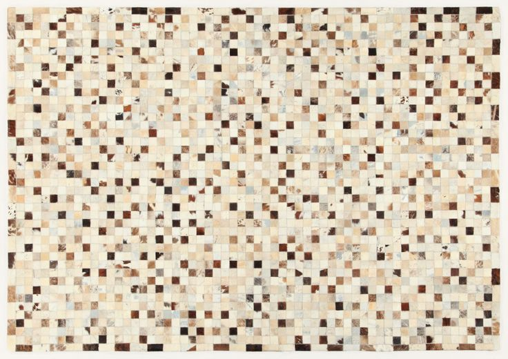 LEATHER PATCHWORK MOSAIC GREY BEIGE RUG - Brand News 2017 in 100% pure selected cowhide