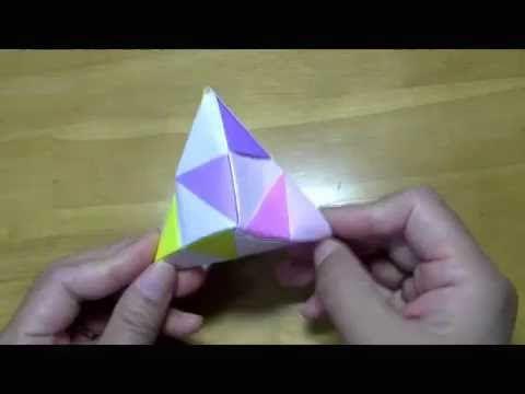 簡単 折り紙:折り紙 三角錐-jp.pinterest.com