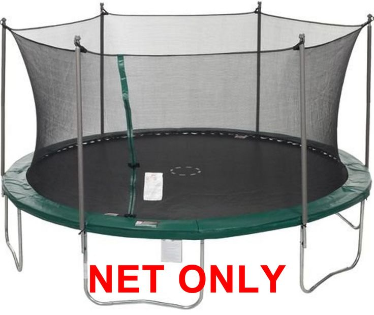 11' ft. with 6-Buckle/Straps Replacement Trampoline Safety Net, Fits 6-Pole or 3-Arch 11' trampolines (Color Black/Blue) by Trampoline Part Store