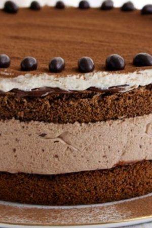 Acesta este pe departe cel mai rafinat desert pe care l-am mancat, tortul cu mousse de ciocolata