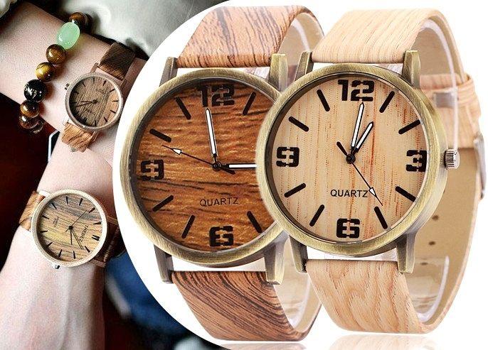 Damski DREWNIANY Zegarek Wood Wood watch EdiBazzar