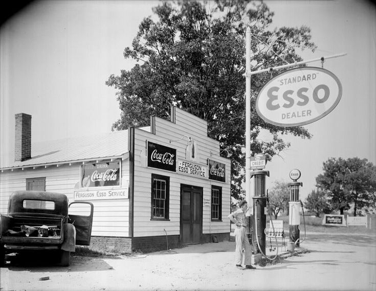 Esso gas station. (They still have Esso stations in Italy!)