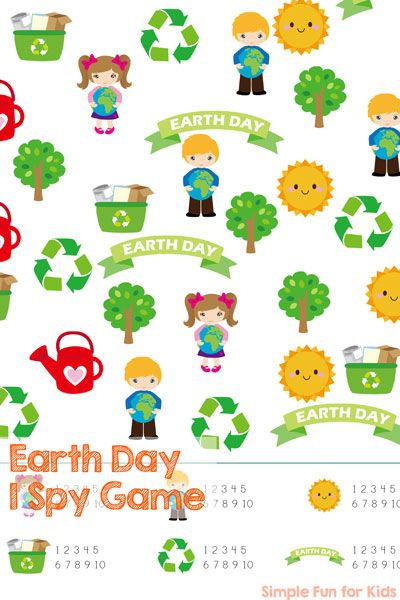 Earth Day is on April 22! Practice counting in a playful manner with this printable Earth Day I Spy Game that's perfect for preschoolers and kindergarteners.