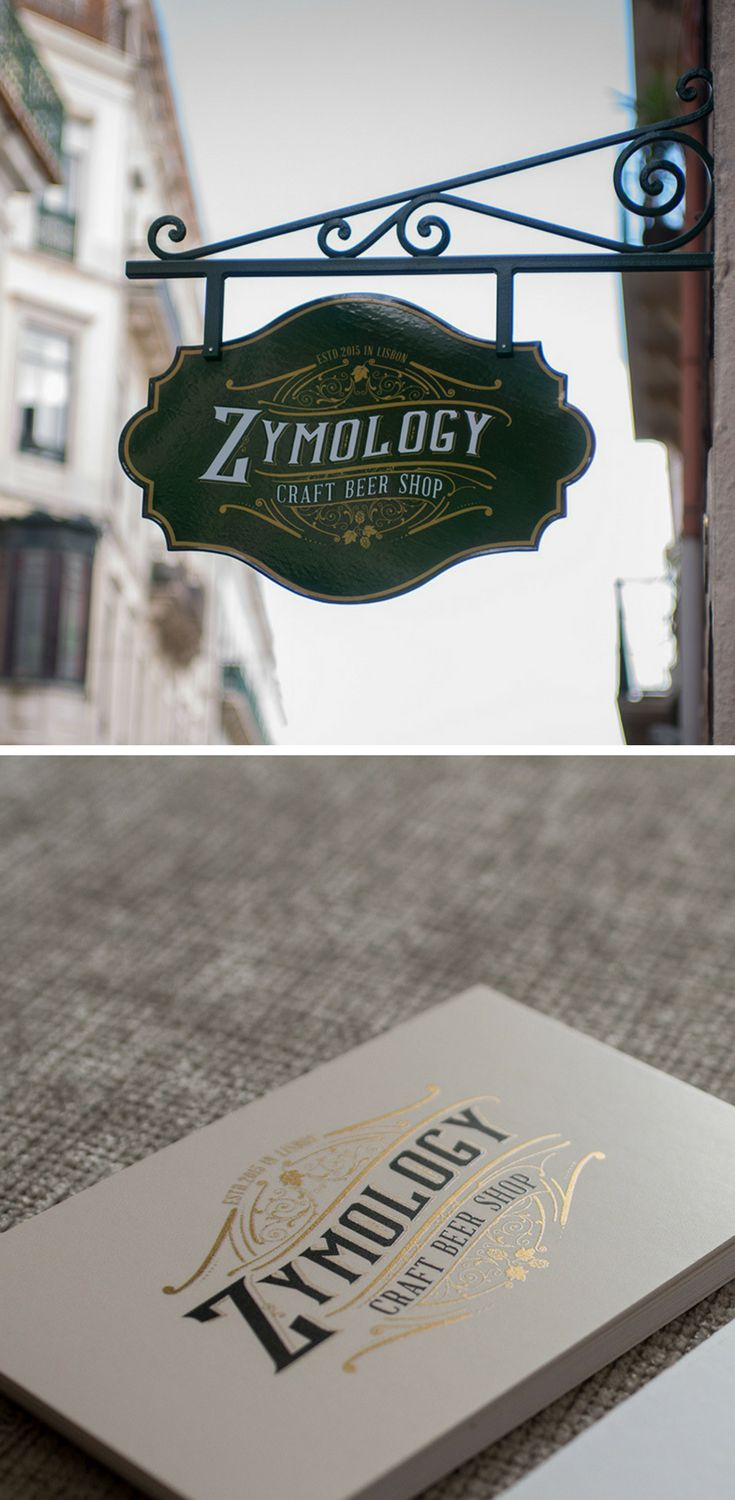 'Zymology' is a craft beer shop located in Lisbon, the intention behind the branding and the brand design was to reflect a sense of craft and authenticity while adding a vintage charm.