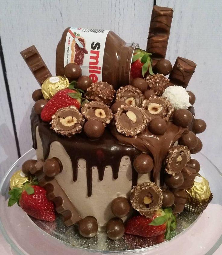 "27 Likes, 4 Comments - Sugarlicious Cakes & Cupcakes (@sugarlicious_cakes_sydney) on Instagram: ""#nofilter #chocdrip #chocolatecake #nutellacake #strawberries #maltesers #ferrero #kinderbueno…"""