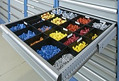 Rely on our solutions for storing and kitting parts.