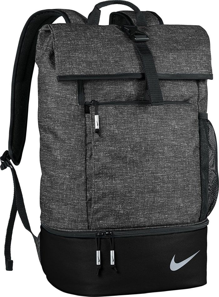 "Promising Review: ""I was looking for a work/gym bag and this gets the job done. I was tired of carrying my laptop bag in addition to my duffle bag. This gym bag is a little more discreet and doesn't look as out of place in the office. I carry my laptop with my cables, mouse, shoes, gym clothes, wrist wraps, shaker bottle, and lunch. It is a little annoying going through so many steps to open it but it's not a big deal. The straps are comfortable and it looks stylish. There is also a mesh…"