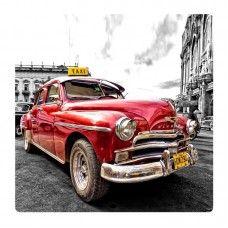 Piros retró autó falikép