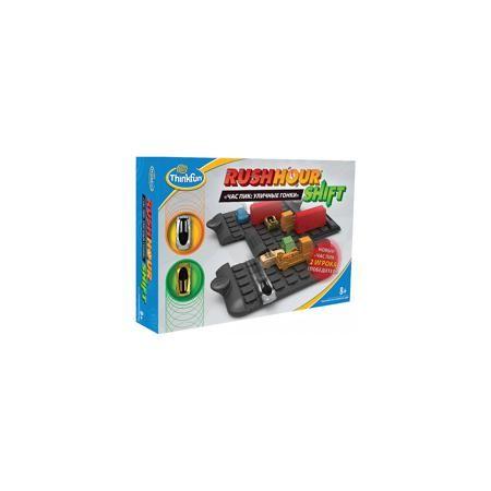 """Thinkfun Игра """"Час пик: Уличные гонки"""", Thinkfun  — 2064 руб.  —  Игра """"Час пик: Уличные гонки"""", Thinkfun.  Характеристики:  - В комплекте: игровое поле из 3 частей, 2 гоночные машинки для игроков, 12 машинок для создания дорожной ситуации, 32 карточки, мешок для хранения, инструкция - Количество игроков: 2 - Время игры: 10-20 мин. - Материал: пластик, картон, текстиль - Размер упаковки: 30 x 22 x 6 см - Упаковка: картонная коробка - Вес: 650 гр.  Игра представляет собой своеобразную…"""