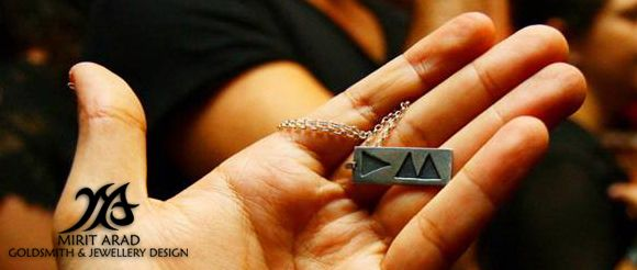 "Depeche Mode ""Delta Machine"" sterling silver pendant. Handmade by Mirit Arad."