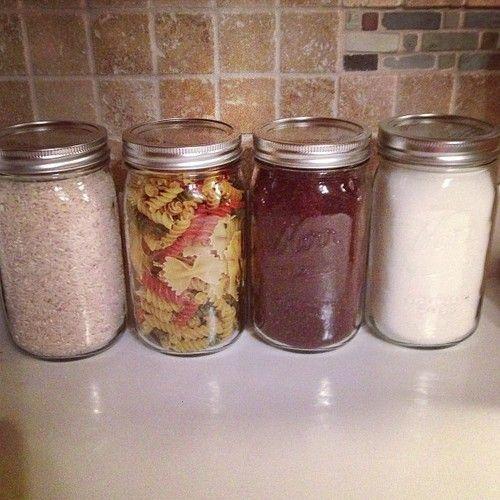 Diy quart size mason jars for storage and decorations in for Decoration quatre quart