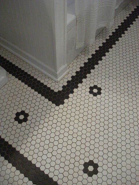 Vintage Bathroom Tile Floor Obsessed Home Pinterest