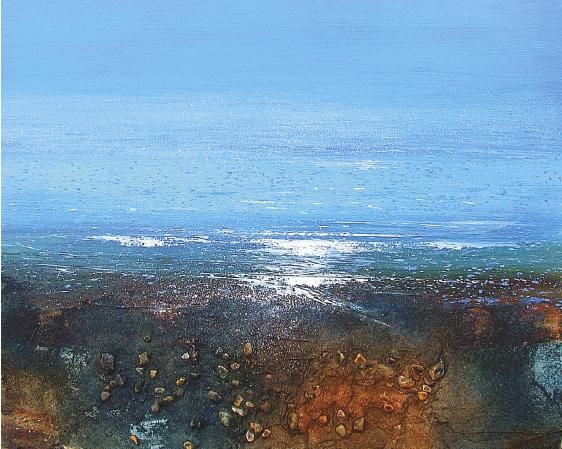 Use Winsor & Newton Artists' Acrylic mediums with Glyn Macey to paint Atlantic Shore