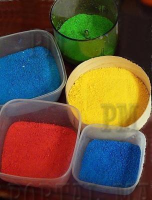 Цветной песок   portalmam.com