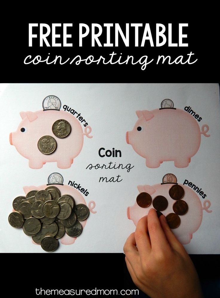 This free printable sorting mat is the perfect first step for kids who are learning coins!
